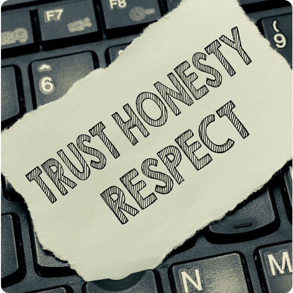 Trust Honesty and Respect